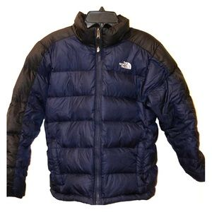 Boys The North Face Sz L 14-16 blue puffer jacket